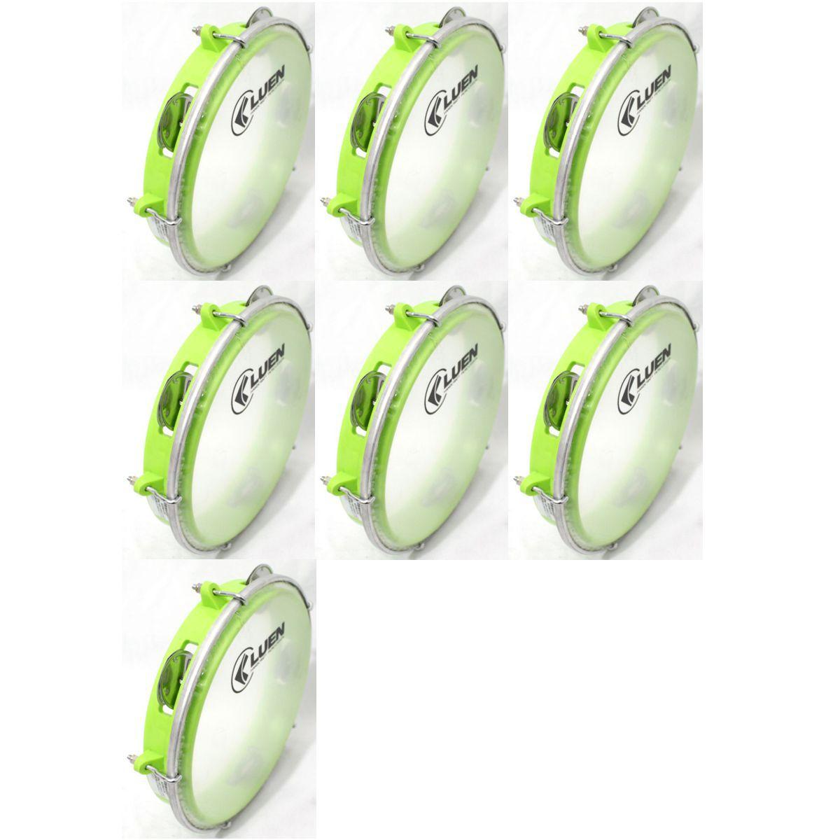 Pandeiro Luen 8 Junior ARO ABS Verde Pele Cristal - 40084VDC - Pacote com 07 Unidades