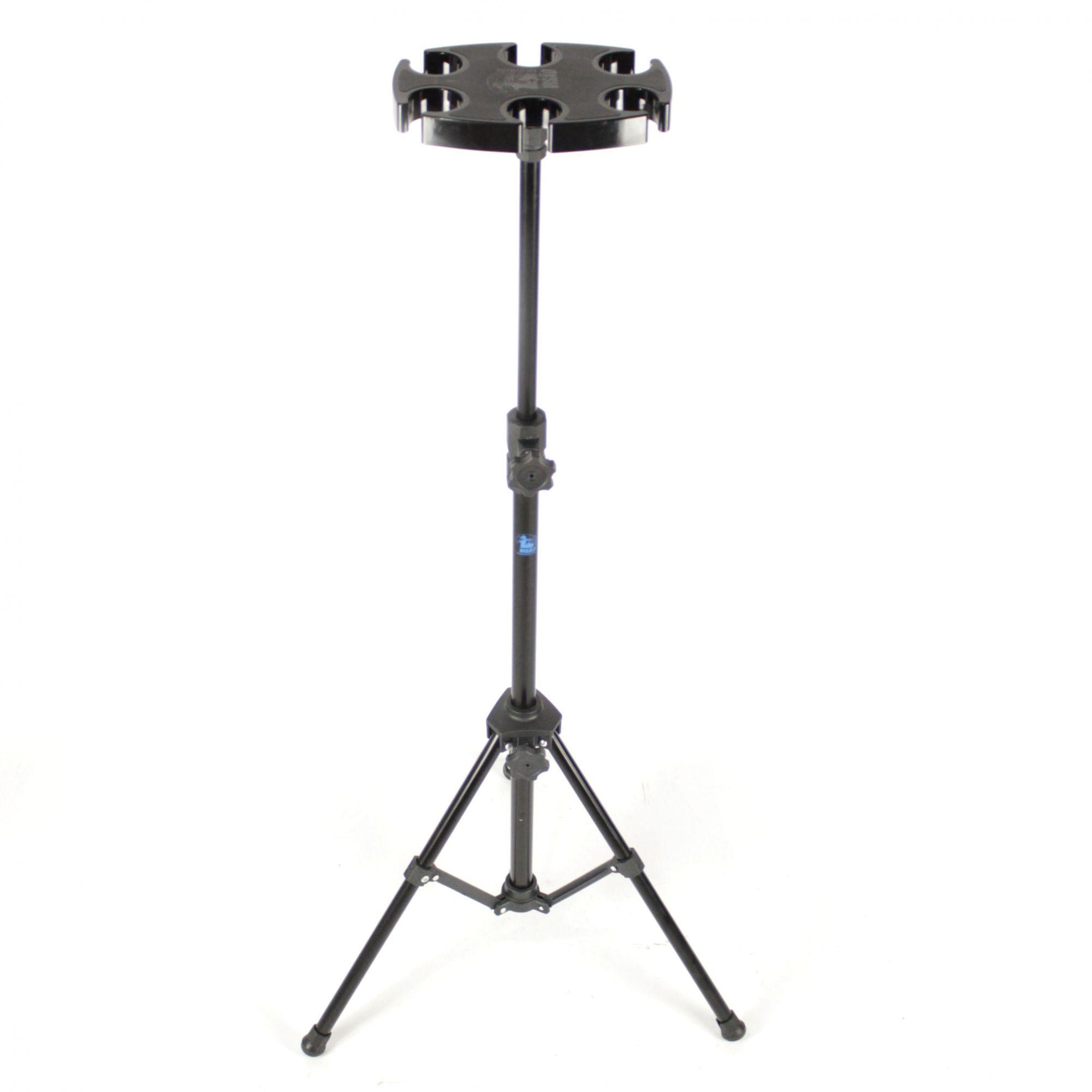 Pedestal de Descanso para 6 Microfones com Base Injetada Visão - VDEM-02BK