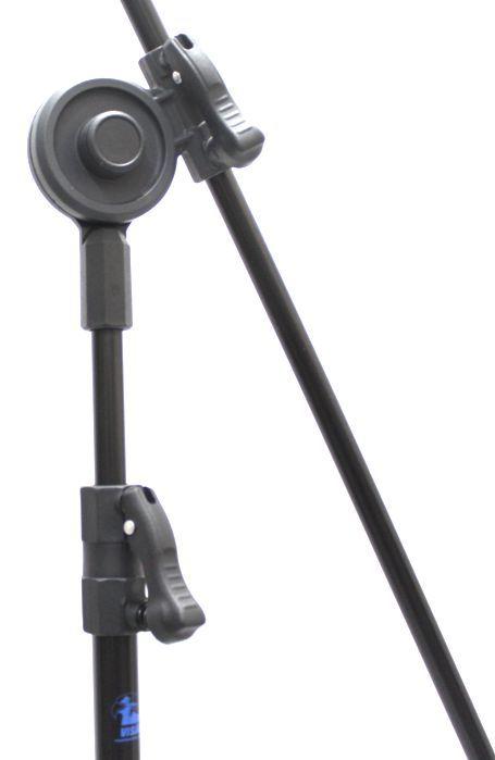Pedestal de Microfone Visão com Base de Ferro para 2 MICS com 2 Cachimbos VPE3FBK