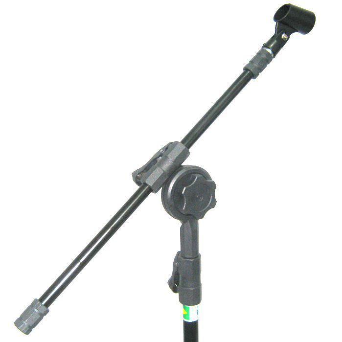 Pedestal de Microfone Visão para 1 MIC com Cachimbo - VPE2BK - Pacote com 2 Unidades