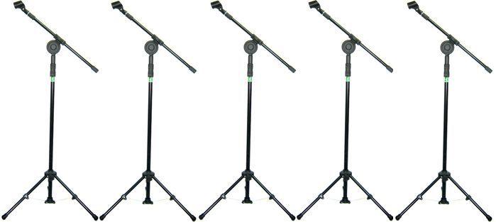 Pedestal de Microfone Visão para 1 MIC com Cachimbo - VPE2BK - Pacote com 5 Unidades