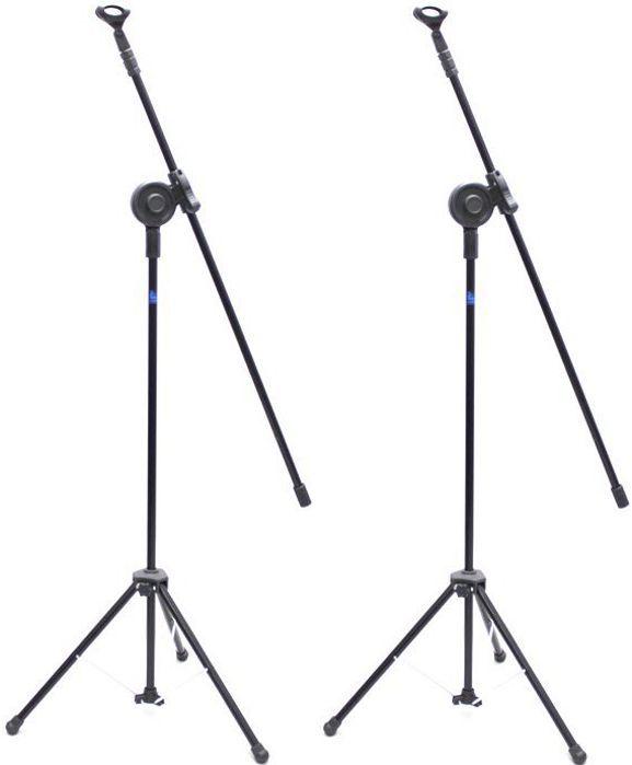 Pedestal de Microfone Visão para 1 MIC VPM-B BK - Pacote com 2 Unidades