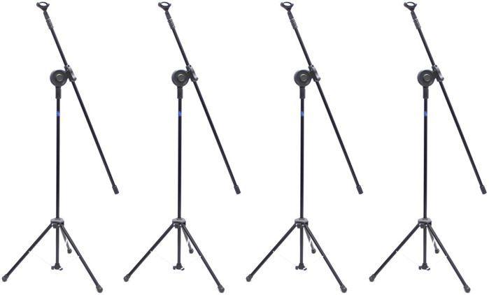 Pedestal de Microfone Visão para 1 MIC VPM-B BK - Pacote com 4 Unidades