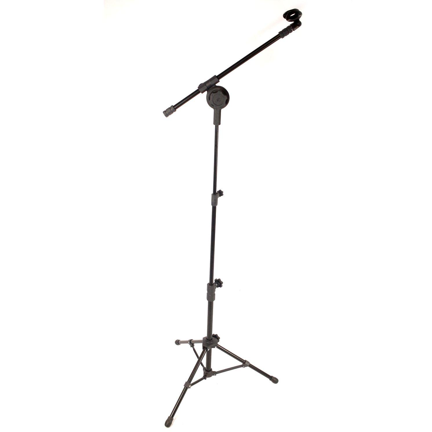 Pedestal Microfone Visao PE4BK Girafa com PES Dobraveis 2 Estagios de Altura