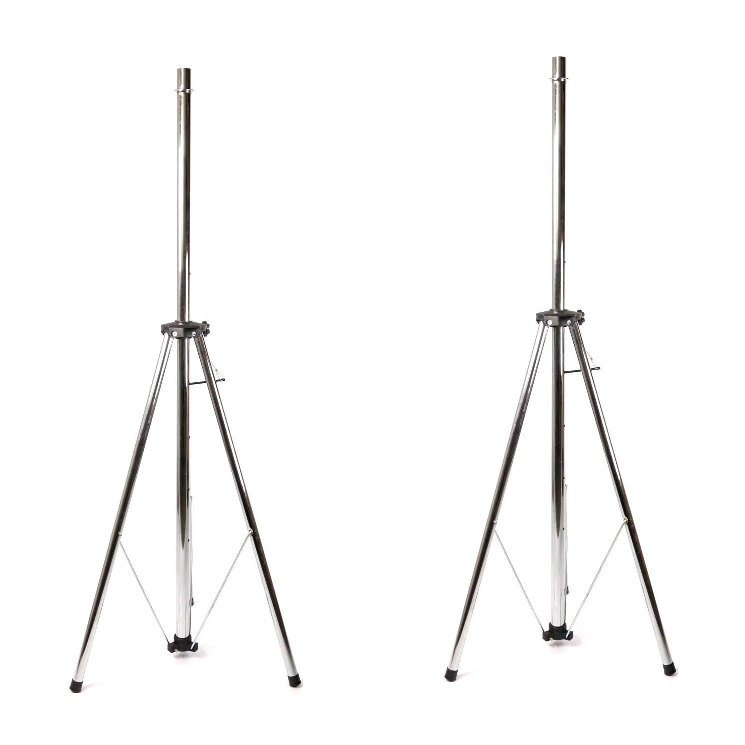 Pedestal para Caixa Acústica Visão Suporte Tripé em Ferro Cromado MPCA  ATE 60 KG 02 Unidades