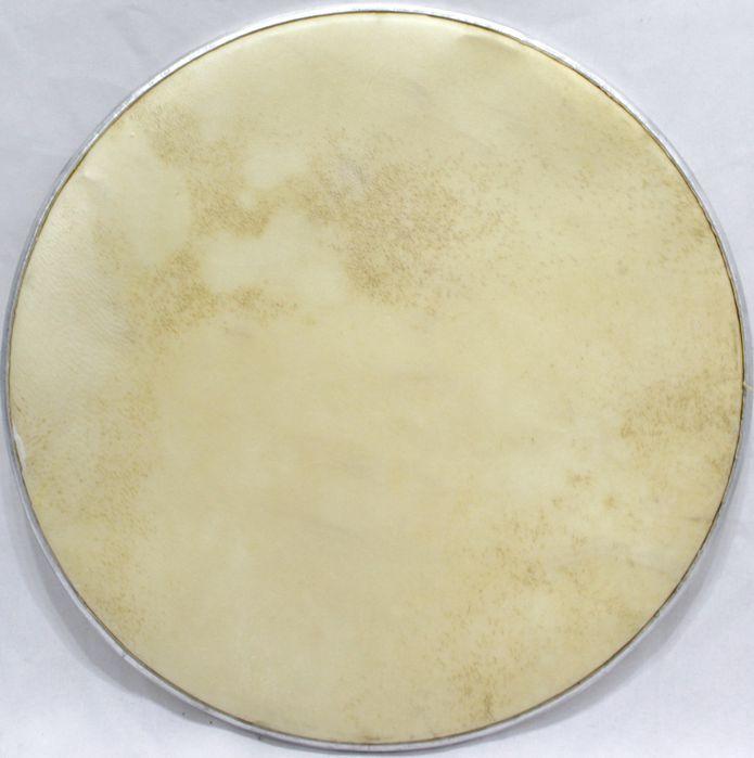 Pele de Couro Animal de 14 Polegadas NO ARO para Instrumentos de Percussão