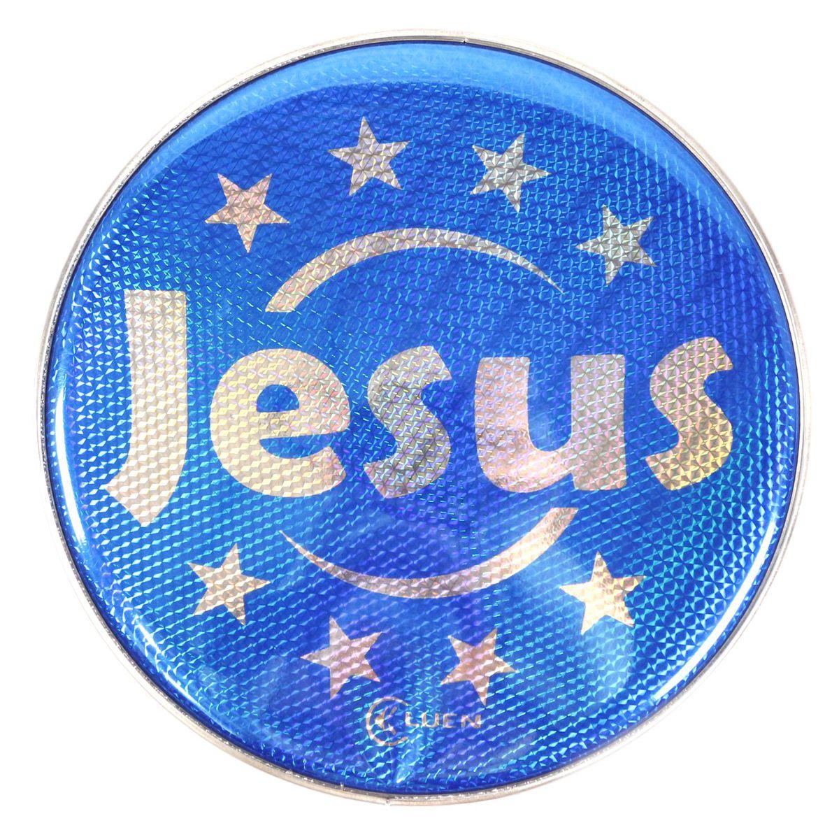 Pele Holografica Jesus AZUL de 10 Polegadas da Luen para Pandeiro 10