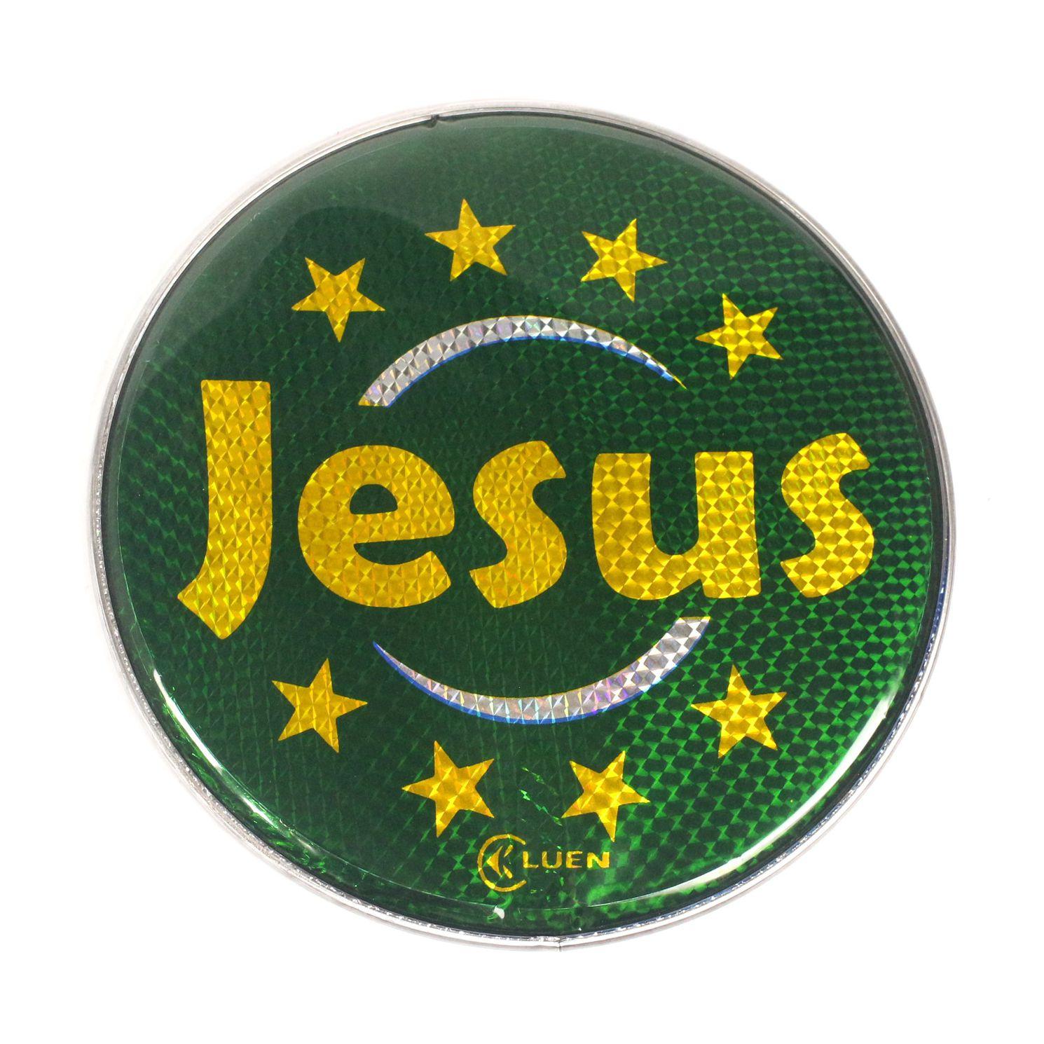 Pele Holografica Jesus Verde de 10 Polegadas da Luen para Pandeiro 10