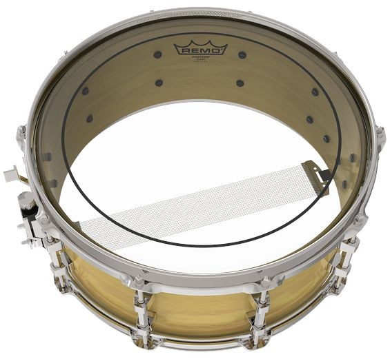 "Pele para TOM e Caixa de 13"" Pinstripe Clear Remo USA - PS-0313-00"