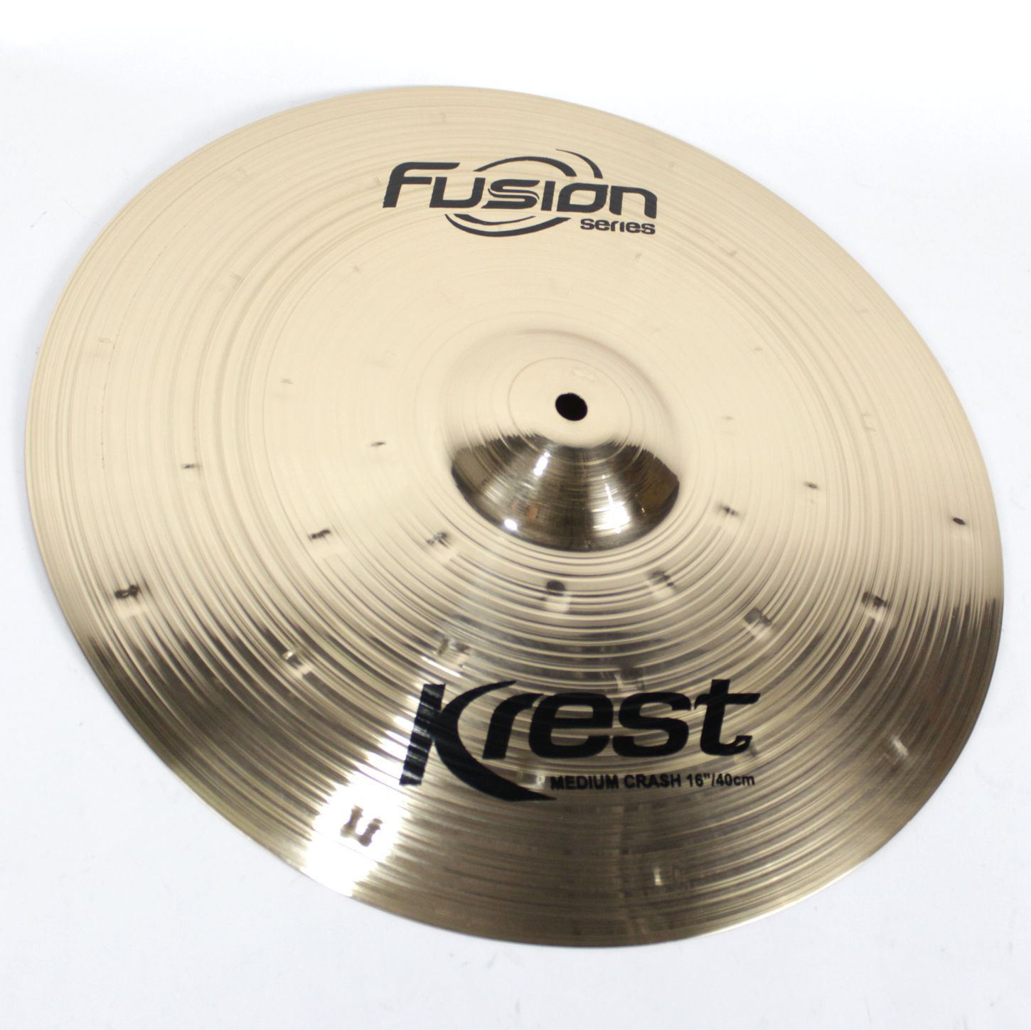 Prato Medium CRASH - Ataque - 16 Serie Fusion da KREST CYMBALS Bronze B8