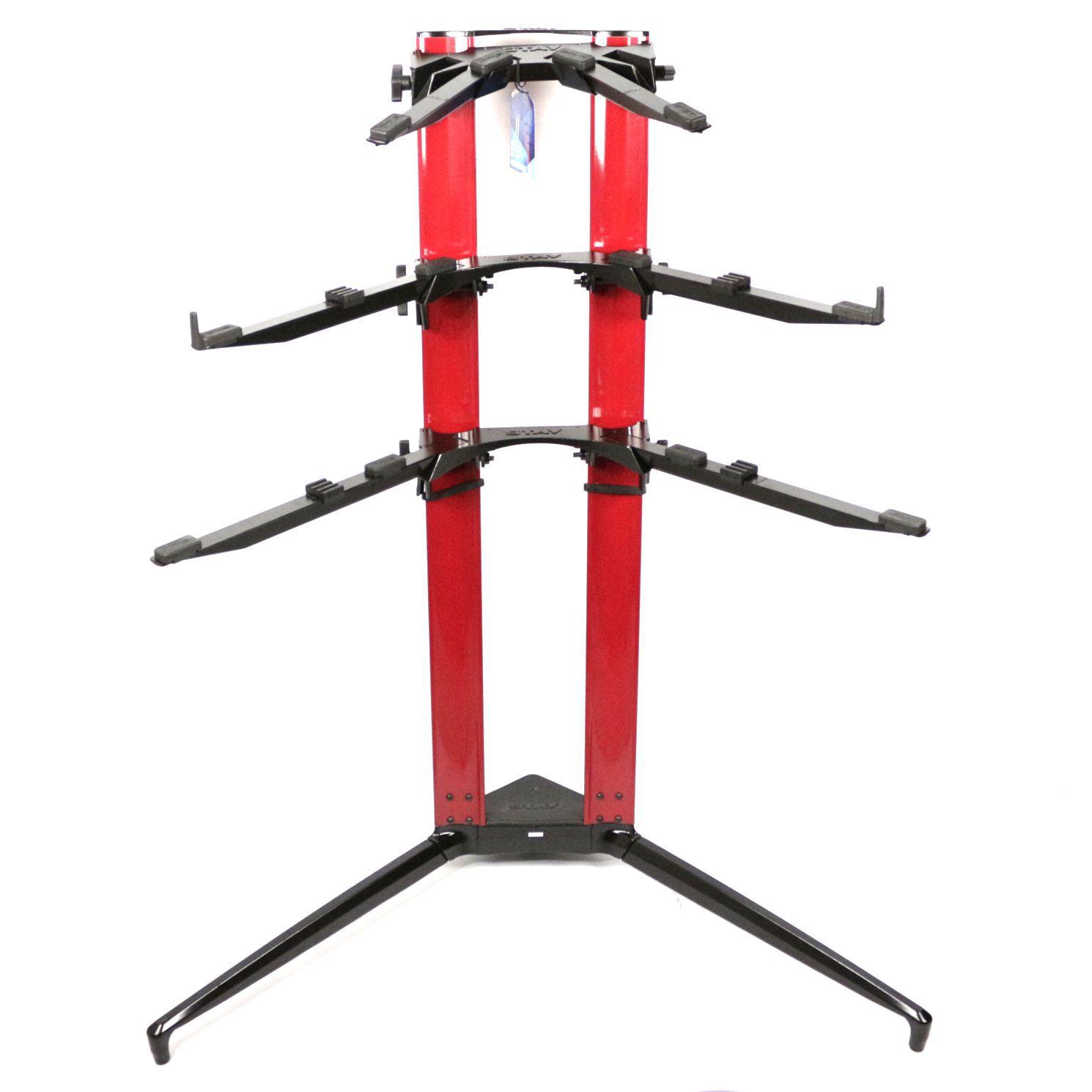 Suporte STAY Piano Aluminio para 3 Pianos ou Teclados 115 CM de Altura com BAG 1200/3 Piano Vermelho