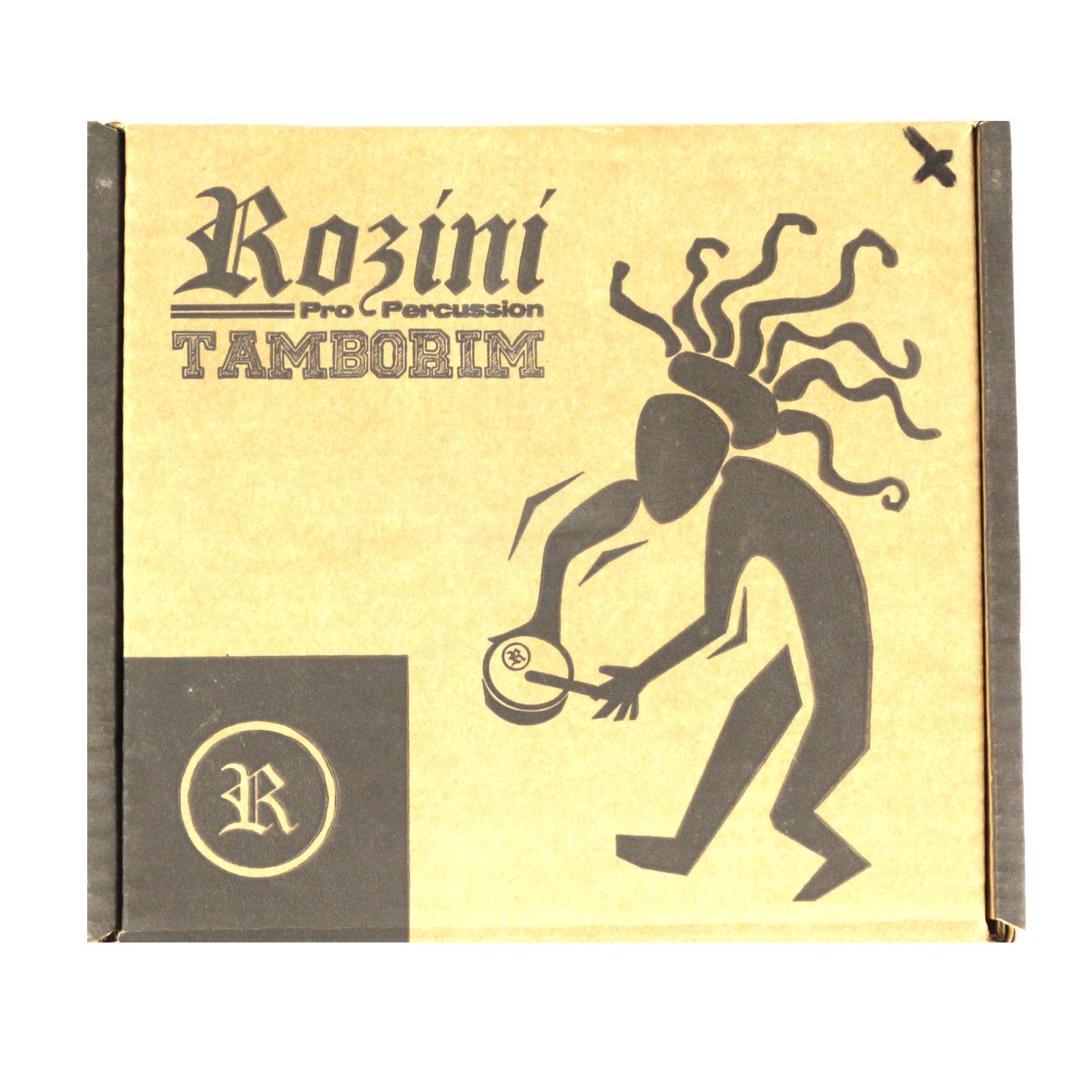 Tamborim Rozini 06 ARO em Madeirira de 5,5 CM e Pele Leitosa RPTM55