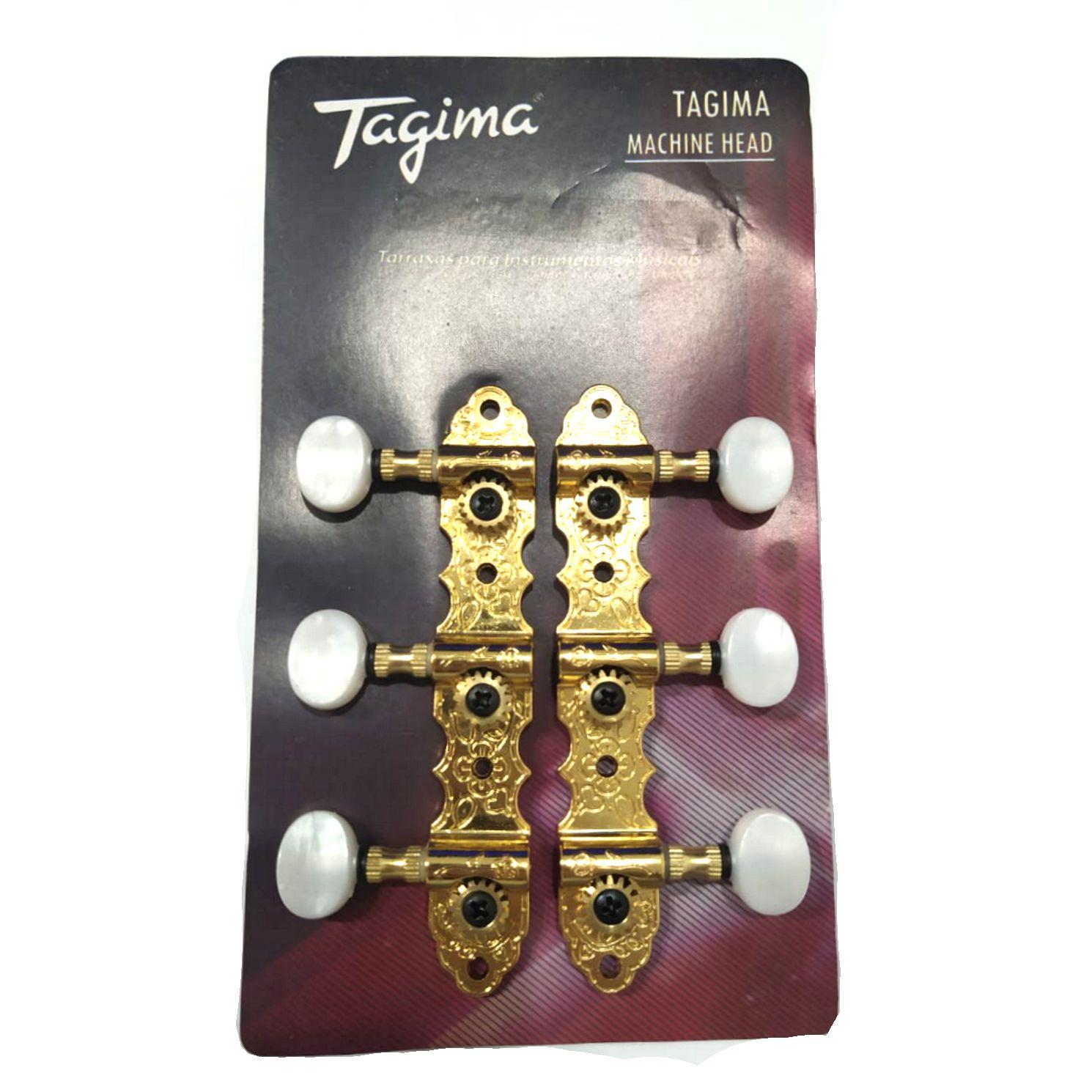 Tarraxa Tagima Blindada Dourada para Violão de NYLON TMH831 GD