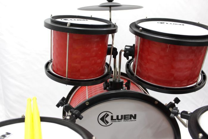 - TESTE- Bateria Infantil Acústica ROCK BABY AM 2 TOMS e Banquinho Dourado - TESTE-