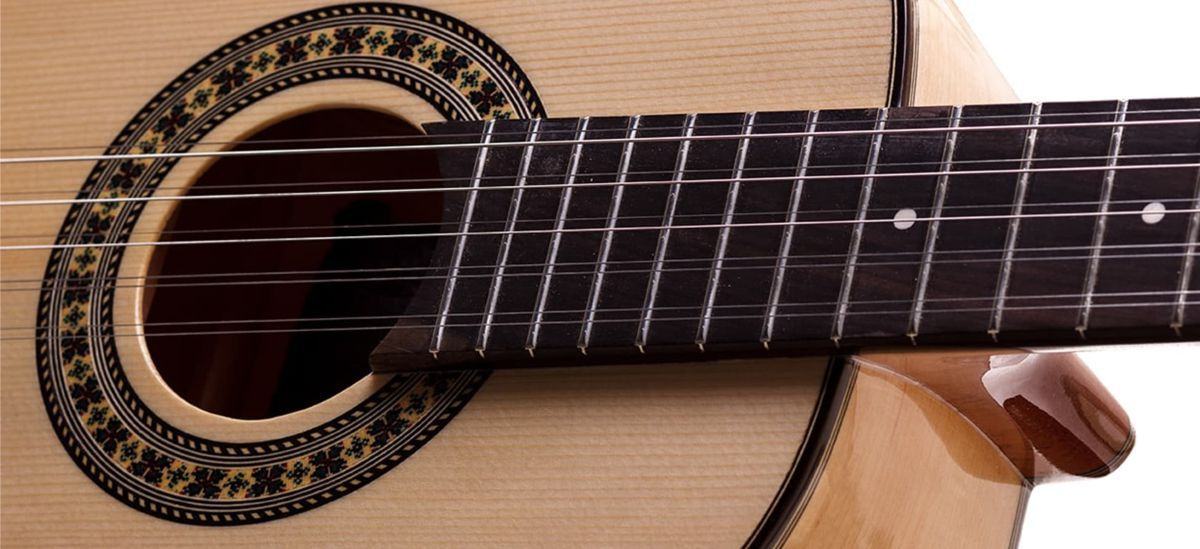 Viola Caipira Rozini Dourada Cinturada em Maple Elétrica Ativa RV217.AT.N.MP