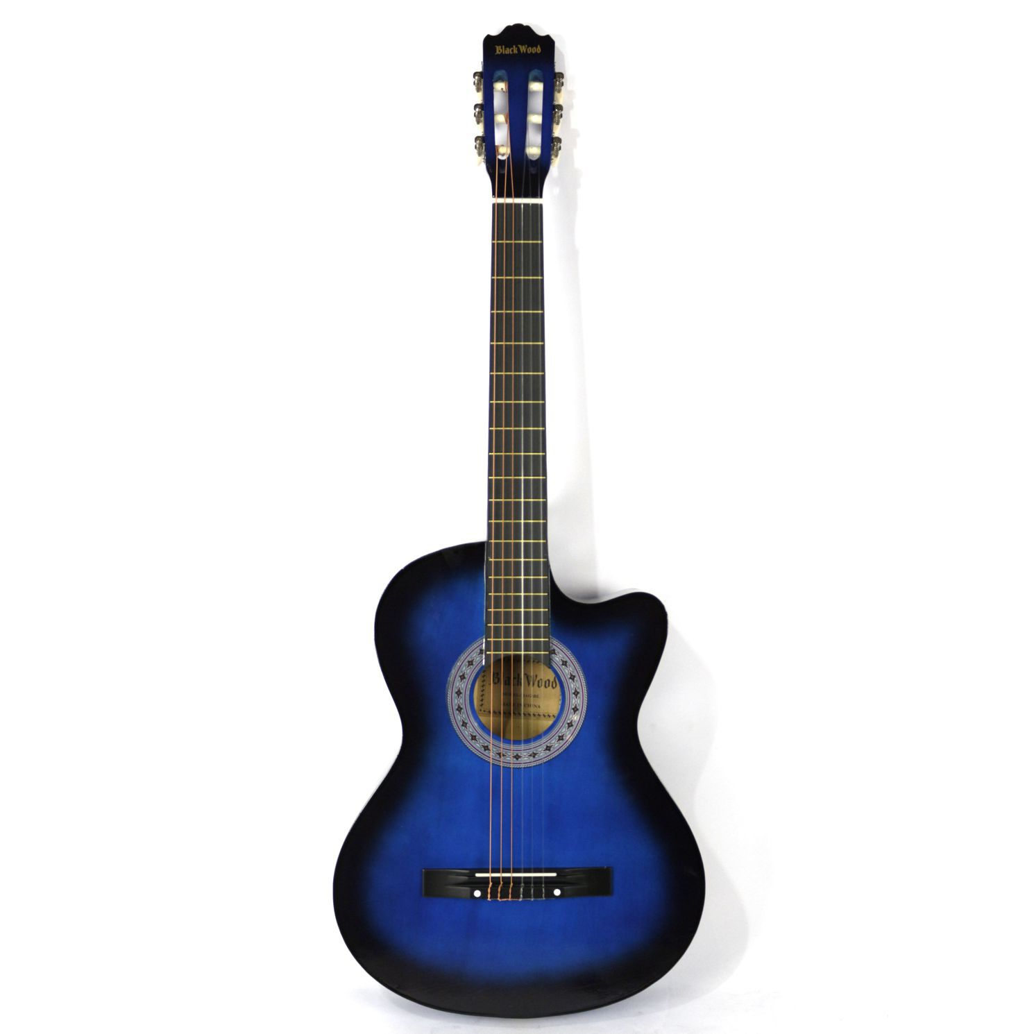 Violão Austin Clássico NYLON com CUT WAY MAG6BL AZUL - BLACK Wood