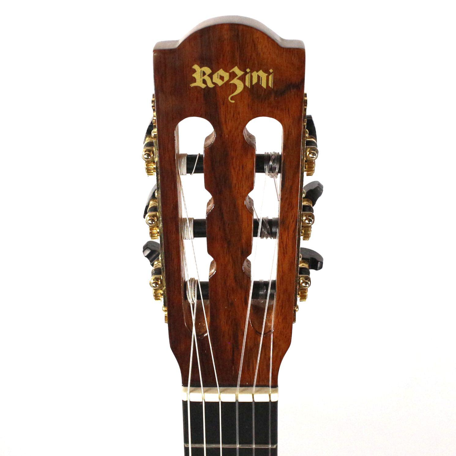 Violão Clássico NYLON Rozini Profissional Acustico em Jacarandá RX213.AC.N.J Pestana 52 MM