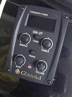 Violão Giannini AÇO Elétrico Ativo Mini Jumbo Preto GFS-1R CEQ BK com Afinador - Série Performance