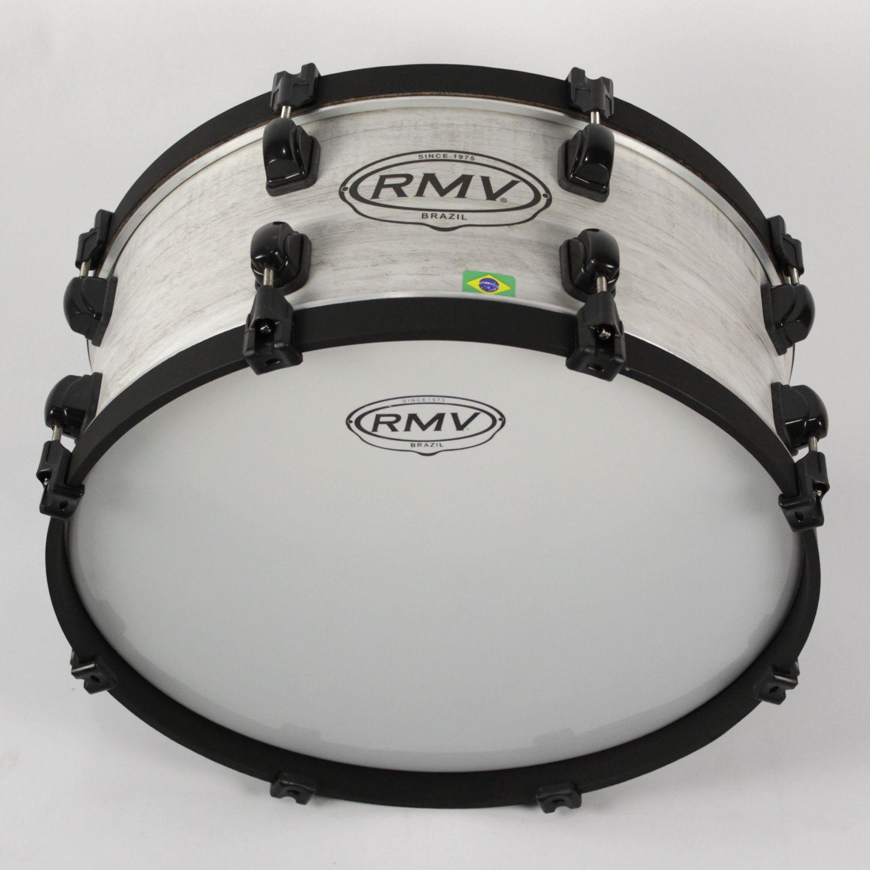 Zabumba RMV 18 Bianco em Madeira Fiber 18 X 7 Polegadas