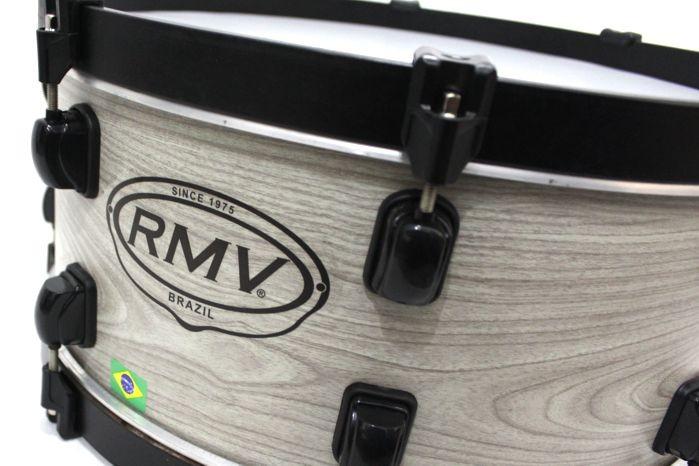 Zabumba RMV 18 Bianco em Madeira Fiber 18 X 7 Polegadas + Capa EXTRA Luxo