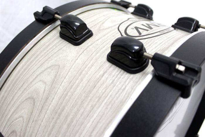 Zabumba RMV 20 Bianco em Madeira Fiber 20 X 7 Polegadas + Capa EXTRA Luxo