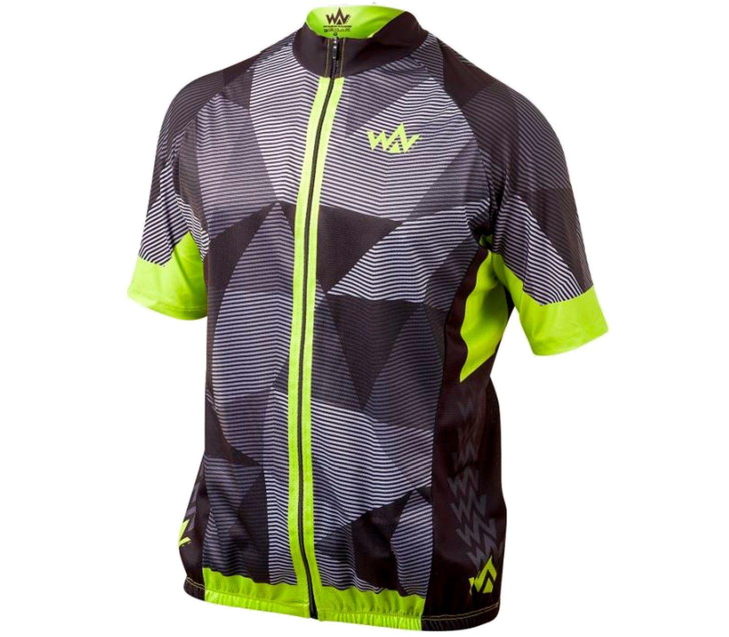 c630aa1c25 Camisa Ciclismo MTB-001 Prismas Preto Amarelo WV Team