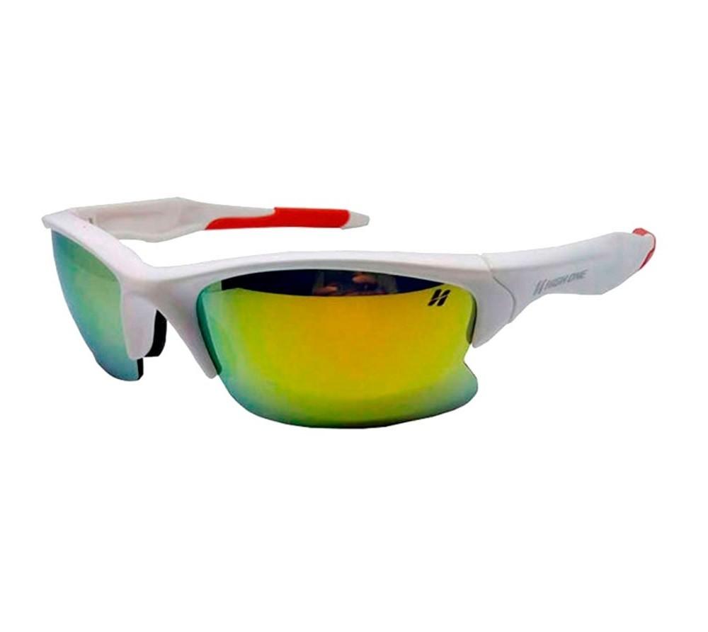 0bbe8391802ca Óculos 3 Lentes Iron + Case Branco Vermelho High One NETH Bikes ...