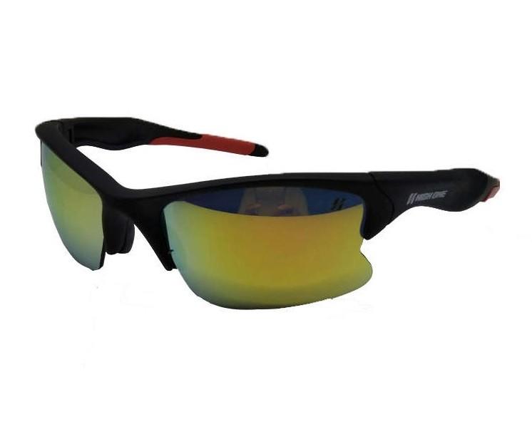 88ee6517b9b65 Óculos 3 Lentes Iron + Case Preto Vermelho High One NETH Bikes ...