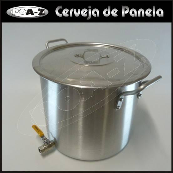 Caldeirão 10 litros com Válvula  - CERVEJA DE PANELA