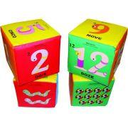 Cubo Numerais e Quantidades - 4 Cubos