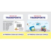 Livro Primeiras Coisas Que Conheço em EVA Meios de Transporte