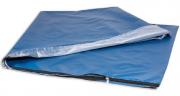 Somente Capa De Colchonete Repouso Napa Zíper 120 X 60 X 4mm Azul e Preto