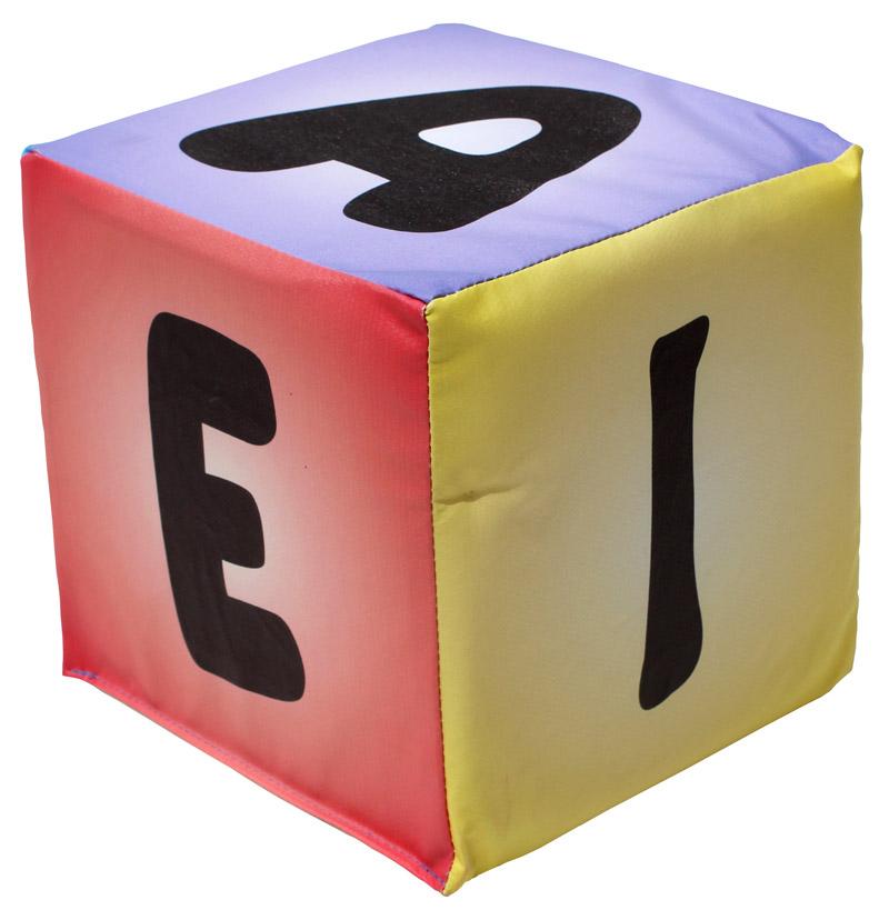 Cubo de Vogais em Espuma