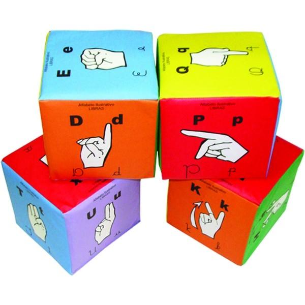 Cubo Educativo - Libras - 4 Cubos