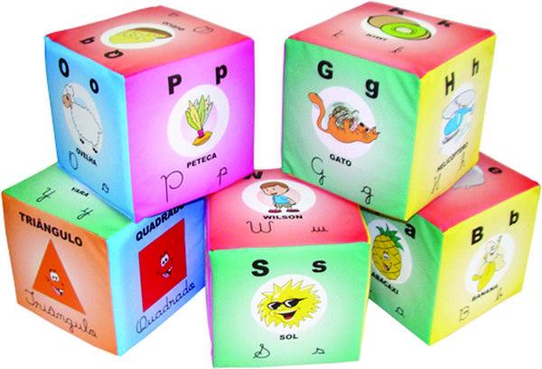 Cubos Alfabeto Ilustrativo - 5 Cubos
