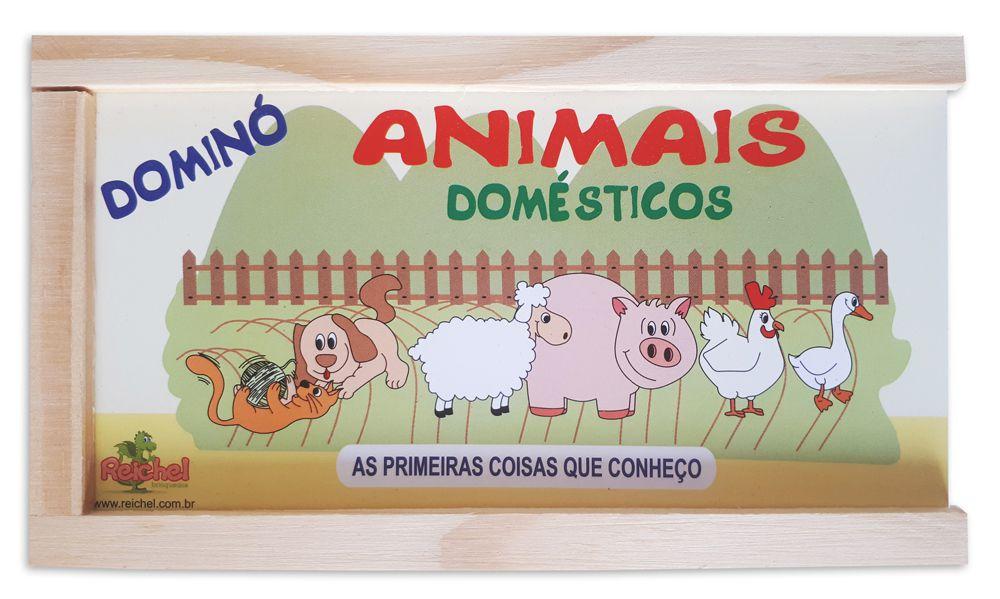 Dominó de Madeira - Tema Animais Domésticos