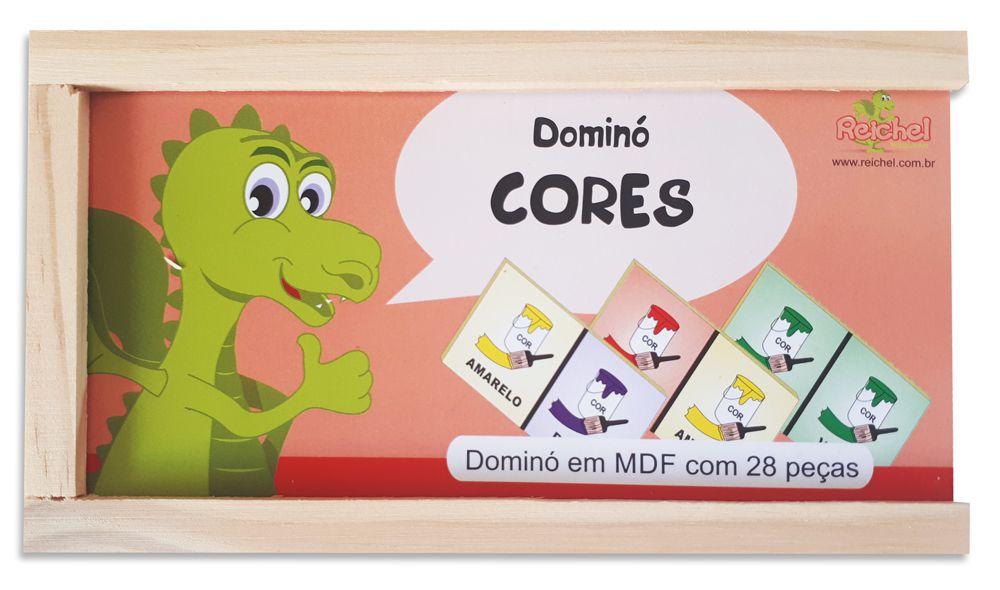 Dominó de Madeira - Tema Cores