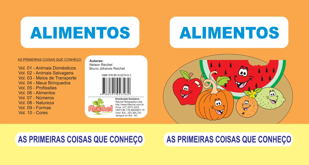 Livro Primeiras Coisas que Conheço em EVA Alimentos