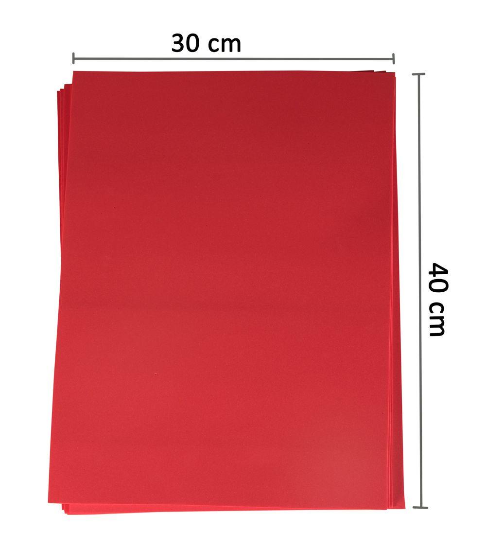 Pacote 10 Folhas em Eva 2mm 30 x 40 cm