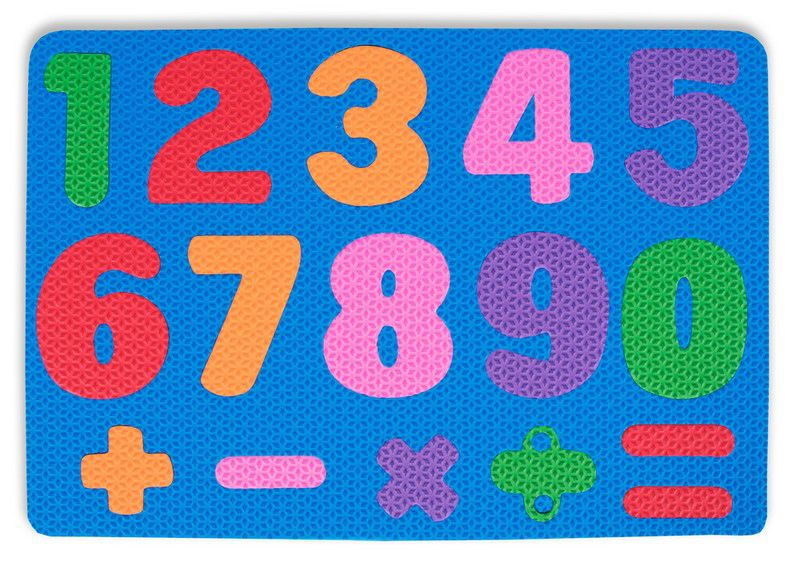 Placa De Números e Sinais Em Eva