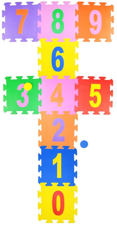 Tapete em Eva - Números Amarelinha 10 peças