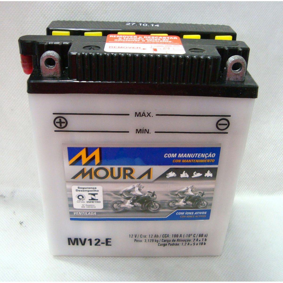 Bateria Moto Moura Mv12- E Cb 400/450/cbr 450