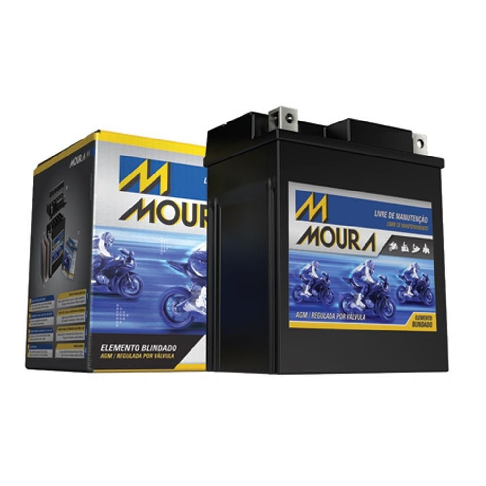 Bateria Moto Moura 18ah 12v Ma18 Direito *