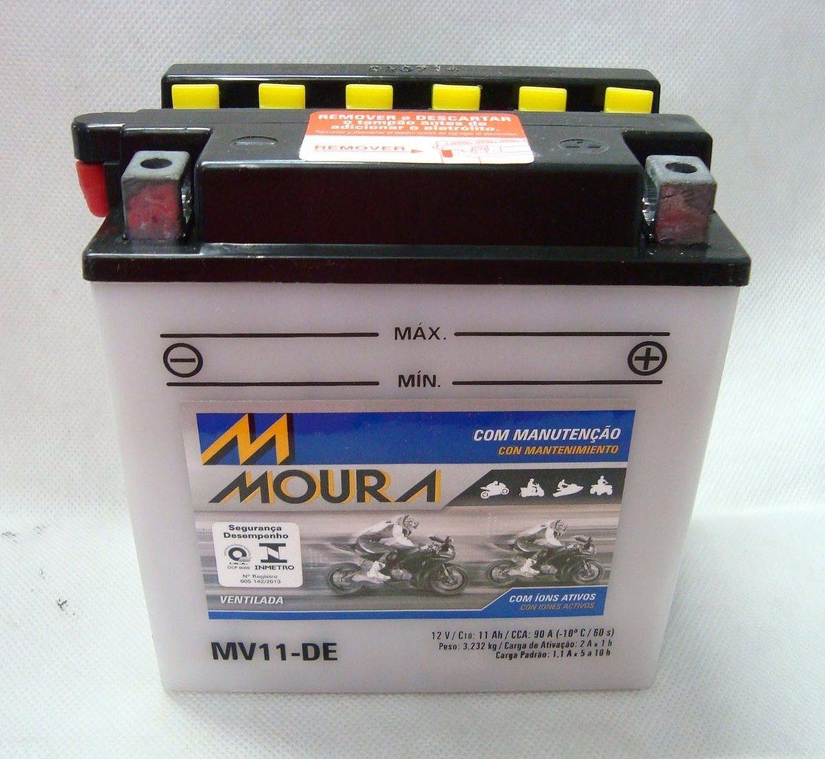 Bateria Moto Moura Mv11 Direito