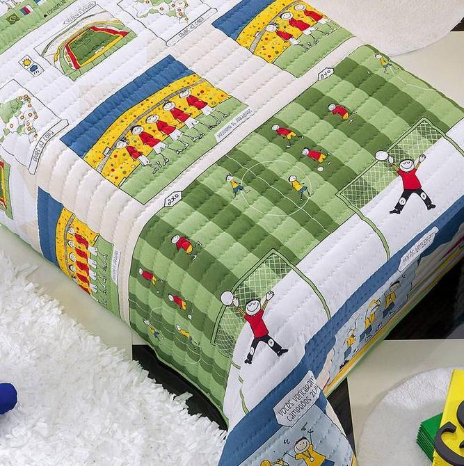 Jogo de Cama Solteiro Premier Kids Malha Meninos Soccer- Altenburg