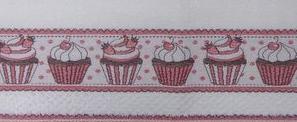 Pano de Copa Licenciado (Cupcake) - Dohler