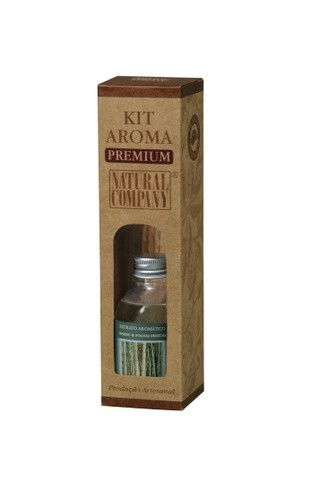 Kit Aroma Premium (Bambú & Folhas Secas) - Natural Company