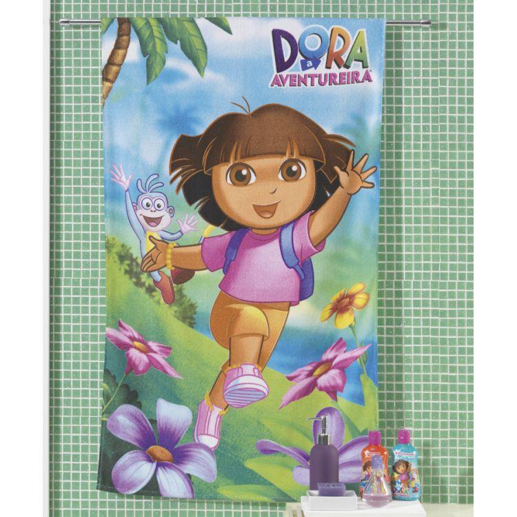 Toalha de Banho Felpuda Estampada Licenciada Dora 04 Dohler