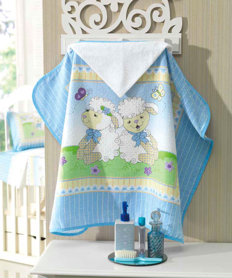 Toalha de Banho com capuz Sweet Dreams Azul Dohler