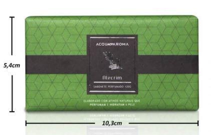 2 Sabonetes Perfumados em Barra 120g Alecrim Acqua Aroma